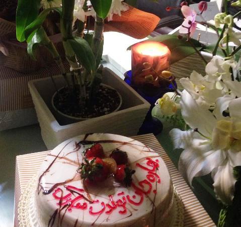 کیک تولد بهاره رهنما