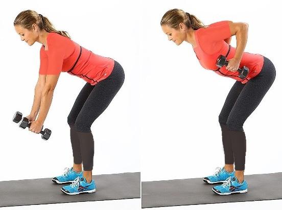 حفظ تناسب اندام با زیر بغل جفت دمبل خم