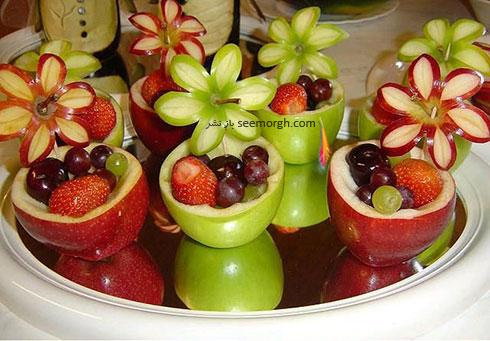 تزیین سیب برای شب یلدا