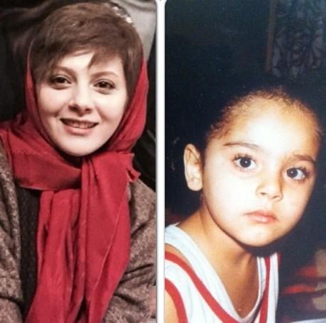 تفاوت چهره چکامه چمن ماه در کودکی و حال