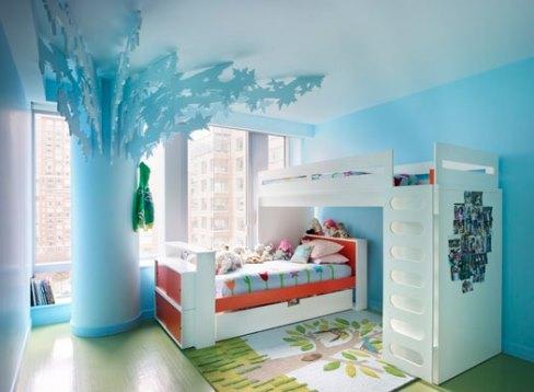 دکوراسیون اتاق کودک به رنگ آبی روشن
