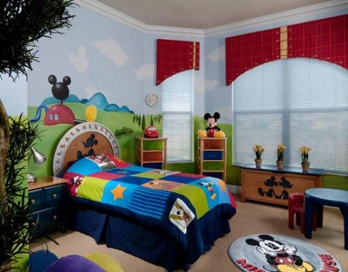 دکوراسیون اتاق کودک با طرح میکی موس