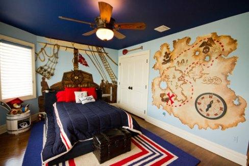 دکوراسیون اتاق کودک با طرح دزد دریایی