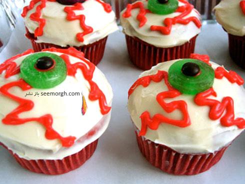 تزیین کاپ کیک به شکل چشم
