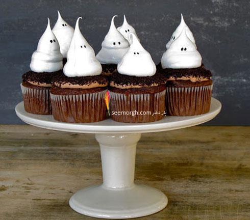 تزیین کاپ کیک به شکل روح