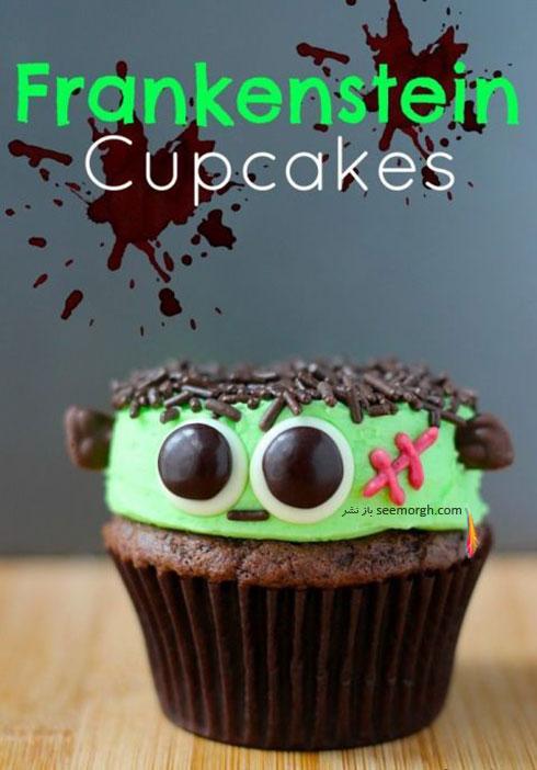 تزیین کاپ کیک به شکل آدمک ترسناک
