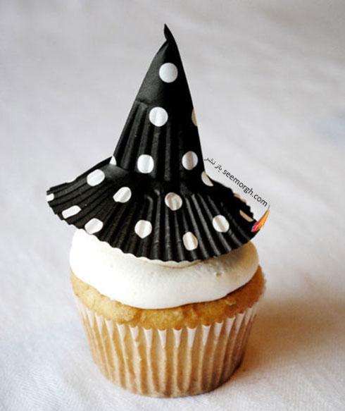 تزیین کاپ کیک به شکل جادوگر