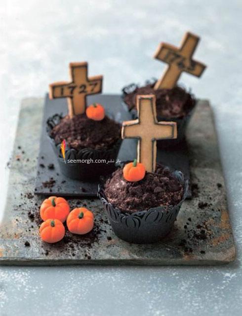 تزیین کاپ کیک با کدوتنبل های شکلاتی