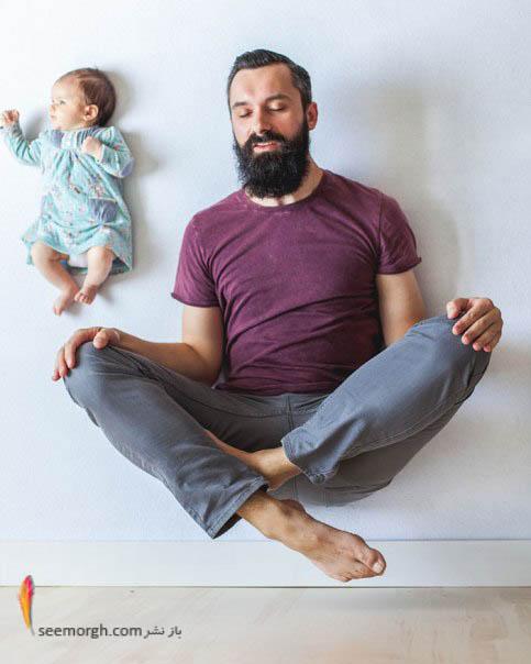 پدر و دختر هردو معلق در هوا!