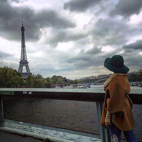 الناز شاکردوست در شهر پاریس
