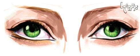 آرایش چشم مخصوص چشمهای دور