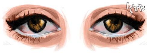 آرایش چشم مخصوص چشم های درشت