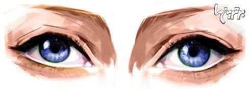 آرایش چشم مخصوص چشمهای نزدیك به هم