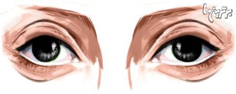 آرایش چشم مخصوص چشمهای فرورفته