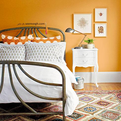 دکوراسیون پاییزی با رنگ نارنجی