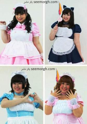 دختران پیشخدمت و البته چاق و زیبا