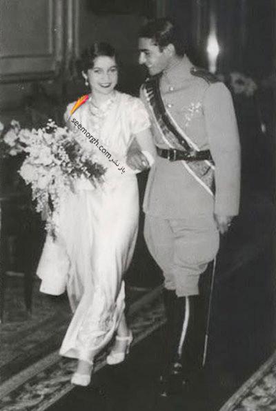 لباس عروس دنباله دار فوزیه