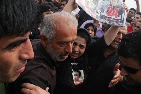 آخرین وداع دردناک همسر هادی نوروزی