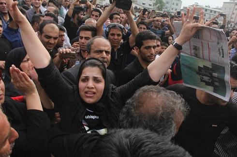 آخرین وداع همسر هادی نوروزی
