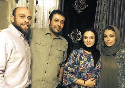 گلاره عباسی و همسرش در کنار محسن چاوشی و همسرش