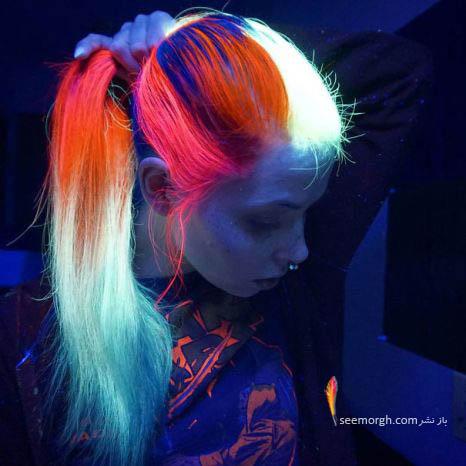 رنگ موهای عجیب دختران در پارتی های شبانه