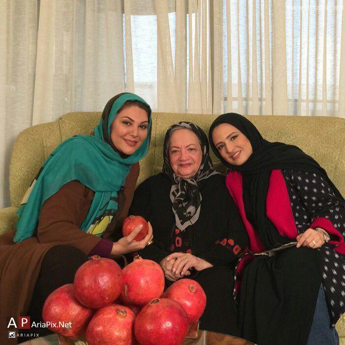 گلاره عباسی و لاله اسکندری در منزل شهلا ریاحی به مناسبت شب یلدا 94