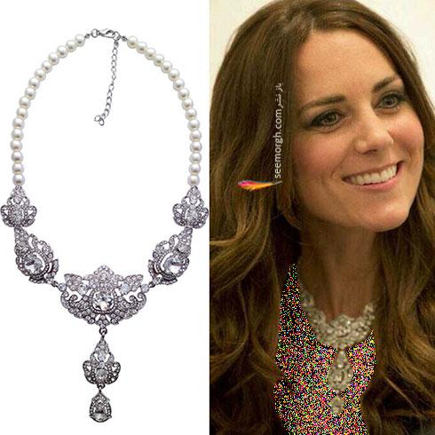 گردنبند مروارید کیت میدلتون Kate Middleton