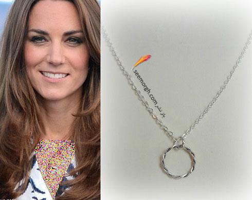 گردنبند با طرح دایره ای کیت میدلتون Kate Middleton