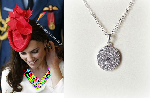 گردنبند دایره ای الماس کیت میدلتون Kate Middleton