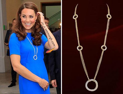 گردنبند بلند الماس کیت میدلتون Kate Middleton
