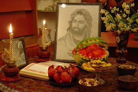 سفره آرایی شب یلدا - تزیین شماره 2 سنتی شب یلدا