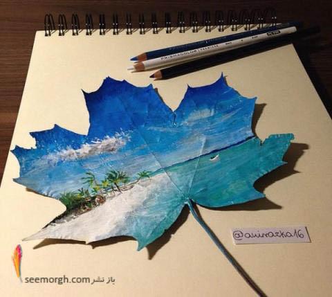 نقاشی و طراحی ساحل زیبا