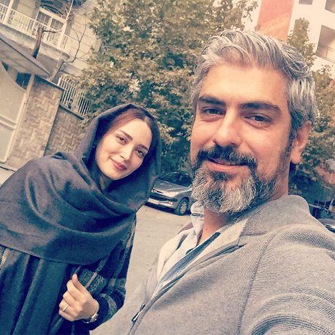 عکس سلفی مهدی پاکدل و بهنوش طباطبایی