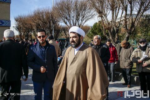 شهاب مرادی در مراسم تشییع اینانلو -8