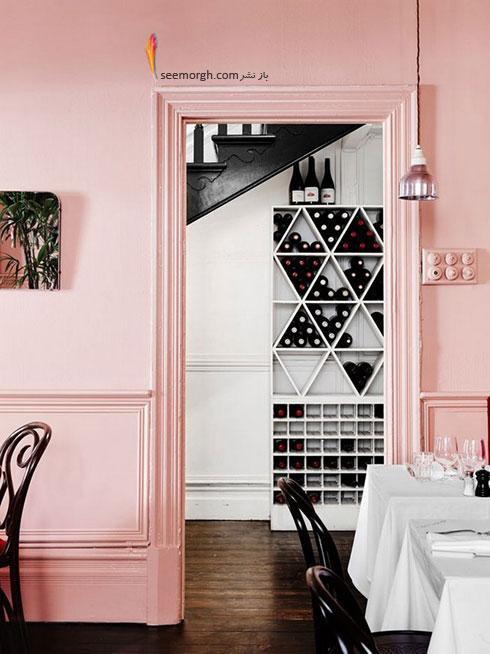 رنگ صورتی کوارتز Rose Quartz در دکوراسیون