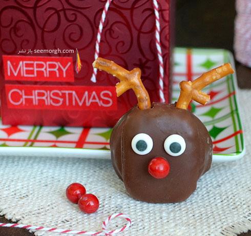 شیرینی به شکل گوزن برای کریسمس