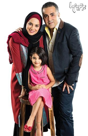 عکس روشنک عجمیان در کنار همسر و فرزندش