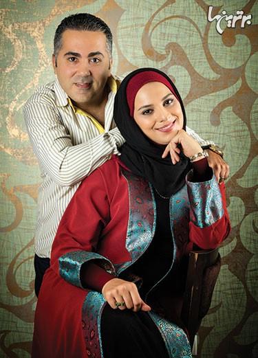 روشنک عجمیان در کنار همسرش