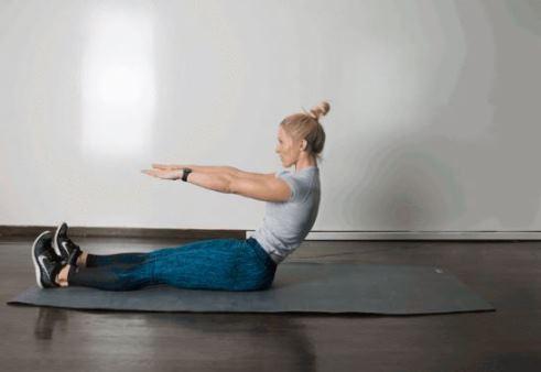 حرکت Roll Up برای کوچک کردن شکم