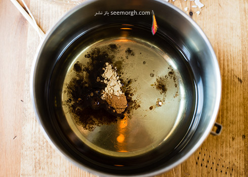 مرحله اول درست کردن شمع معطر خانگی