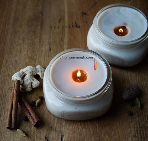 درست کردن شمع معطر