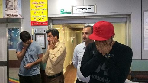 صحنه های تاثر برانگیز درگذشت هادی نوروزی در بیمارستان آتیه