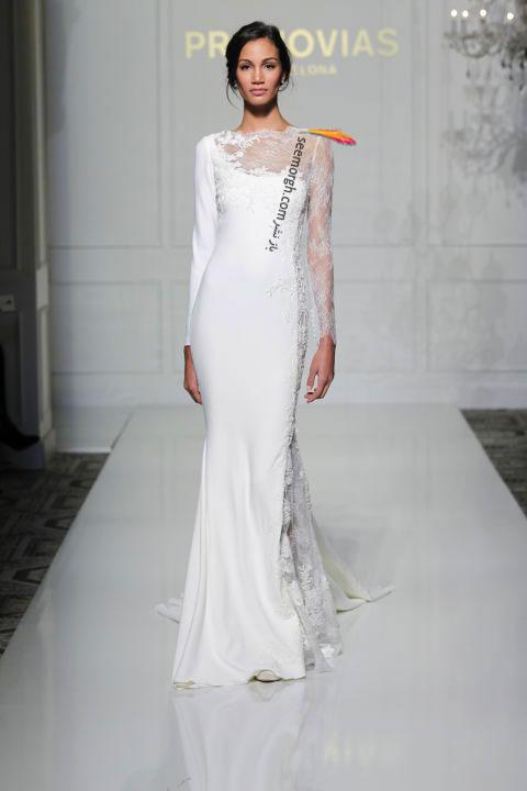 لباس عروس بلند در هفته مد لندن - مدل شماره 7