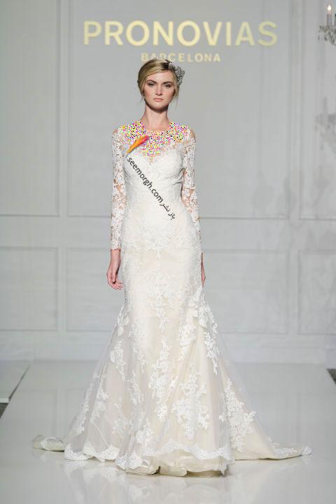 لباس عروس بلند در هفته مد لندن - مدل شماره 9