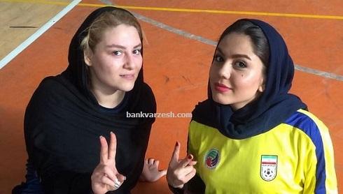عکس کریخوانی آزاده زارعی در کنار دختر ناصر حجازی