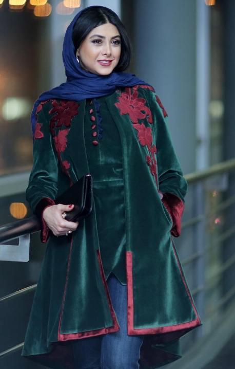 مدل لباس آزاده صمدی در جشنواره مدل و لباس