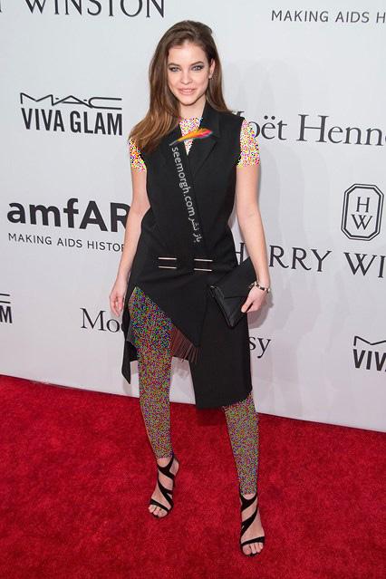 مدل لباس باربارا پالوین Barbara Palvin در مراسم بنیاد تحقیقات ایدز amfAR
