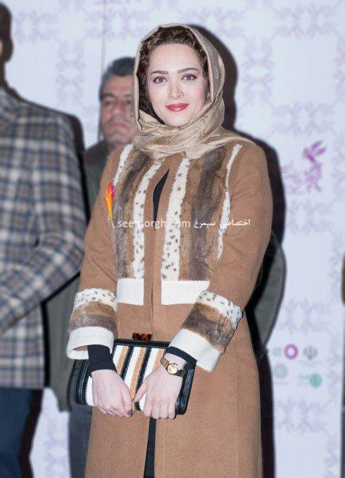مدل لباس بهنوش طباطبایی در نهمین روز سی و چهارمین جشنواره فیلم فجر
