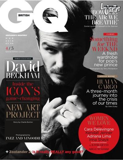 بهترین عکس های دیوید بکهام روی مجله GQ - عکس شماره 3