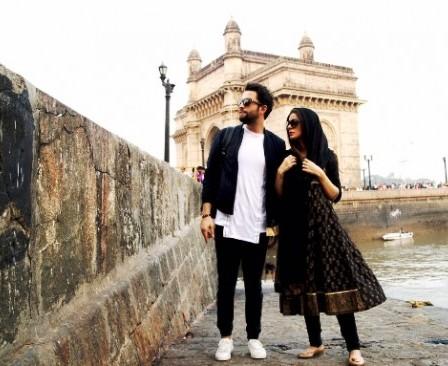 عکس بنیامین بهادری و همسرش